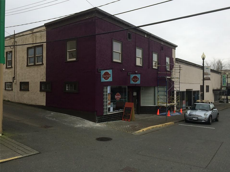 Downtown Courtenay business, The Hub Cafe, gets a fantastic makeover.