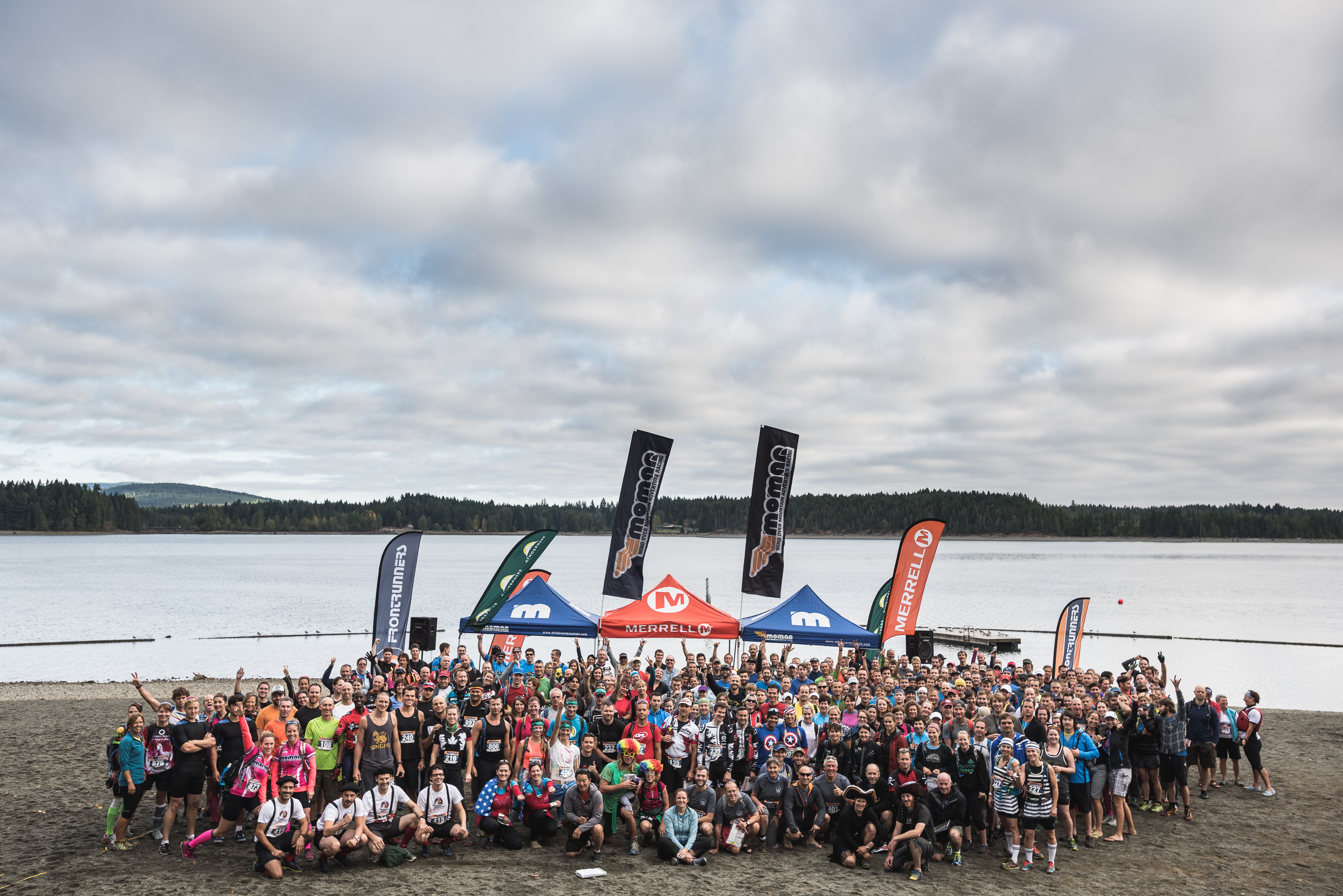 Group Photo of the racers at the 2014 MOMAR Cumberland, BC - Photo by Dave Silver, Record Sell-out for the Atmosphere Mind Over Mountain Adventure Race