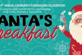 CCSS Hosts 9th Annual Santa's Breakfast Fundraiser on Sunday December 4