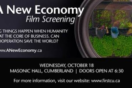 Community Film Screening of A New Economy Thursday, Oct 18th