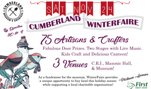 Cumberland WinterFaire November 24th!