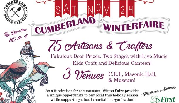 Cumberland WinterFaire November 24th!