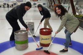 Local Breweries Battle in Keg Curling Fundraiser